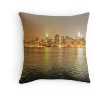 NYC from LIC Throw Pillow