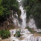 Waterfall in Thailand by godtomanydevils