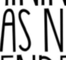 Trans Pride - Femininity Has No Gender (Black Text) Sticker