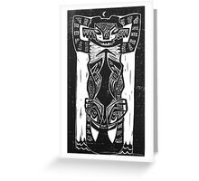 Bear Skull Totem Greeting Card