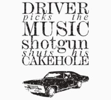 Supernatural - Driver picks the music...(vintage look) by glassCurtain