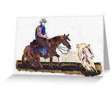 Cutting Horse III Quarter Horse Greeting Card