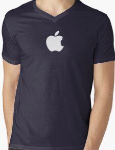 Apple Batman White Mens V-Neck T-Shirt
