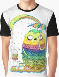 Adventure Time Rainbow Graphic T-Shirt