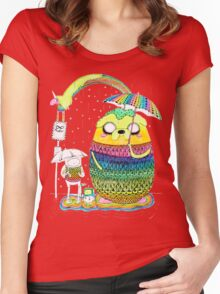 Adventure Time Rainbow Women's Fitted Scoop T-Shirt