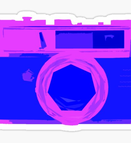 YASHICA Illustration Pink & Blue Sticker