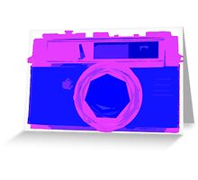 YASHICA Illustration Pink & Blue Greeting Card