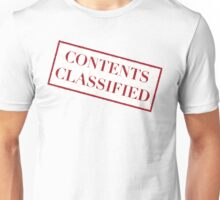 Contents Classified Unisex T-Shirt