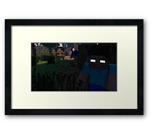 Herobrine - The Thief Framed Print