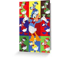 Donald Duck Abstract Art  Greeting Card