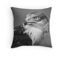 Red-tailed Hawk II B&W Throw Pillow