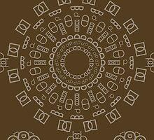 Monogram Pattern (D) in Carafe by janna barrett