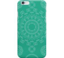 Monogram Pattern (D) in Emerald iPhone Case/Skin