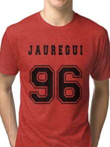 JAUREGUI - 96 // Black Text Tri-blend T-Shirt