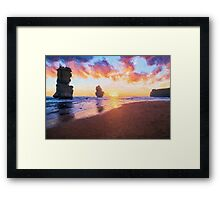 12 Apostles with Marshmallow Skies  (EH) Framed Print