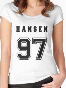 HANSEN - 97 // Black Text Women's Fitted Scoop T-Shirt