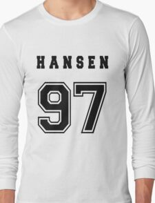 HANSEN - 97 // Black Text Long Sleeve T-Shirt