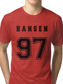 HANSEN - 97 // Black Text Tri-blend T-Shirt