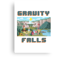 8-Bit Gravity Falls Canvas Print