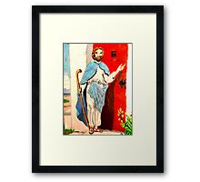 Behold, I stand at the door and knock Framed Print