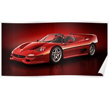 Ferrari F50 - Flare Poster