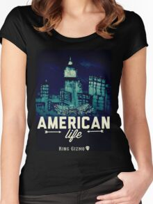American Life [City] Women's Fitted Scoop T-Shirt