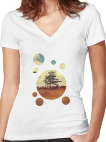 Trees Women's Fitted V-Neck T-Shirt