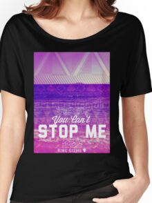 You Can't Stop Me [Violet] Women's Relaxed Fit T-Shirt