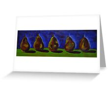 Picking Pears for Grandma Greeting Card
