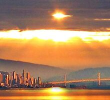 Sunrise over San Francisco (sky version) by Ed Moore