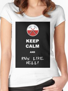 Keep calm and run like hell 02 Women's Fitted Scoop T-Shirt
