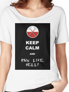 Keep calm and run like hell 02 Women's Relaxed Fit T-Shirt