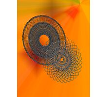 Fractal one Spiral Pattern Photographic Print