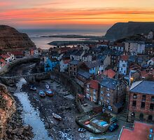 Staithes dawn by James Howard