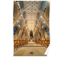 Interior of York Minster - Largest European Cathedral Poster