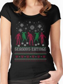 Season Eatings Ugly Christmas Women's Fitted Scoop T-Shirt