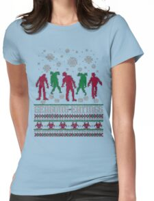 Season Eatings Ugly Christmas Womens Fitted T-Shirt