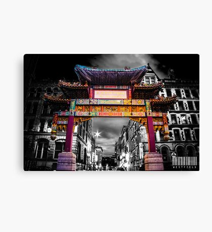 Chinatown Manchester Canvas Print