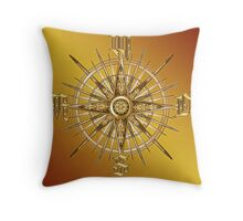 PC Gamer's Compass - Adventurer Throw Pillow