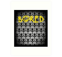 Sherlock - Bored (with wallpaper) Art Print