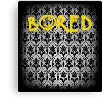 Sherlock - Bored (with wallpaper) Canvas Print