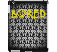 Sherlock - Bored (with wallpaper) iPad Case/Skin