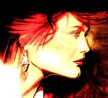 The Red Head: Graphic  by AdagioArt