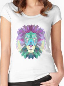 Lion Animals Gift Women's Fitted Scoop T-Shirt