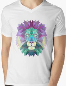 Lion Animals Gift Mens V-Neck T-Shirt