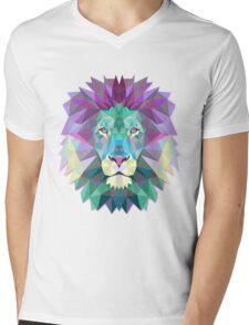Lion Animals Gift Mens V-Neck T-Shirt