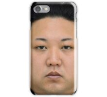 Kim Jong-un Face on something... :D iPhone Case/Skin