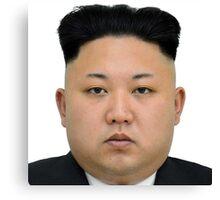 Kim Jong-un Face on something... :D Canvas Print
