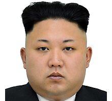Kim Jong-un Face on something... :D Photographic Print