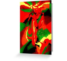 Abstract lady Greeting Card